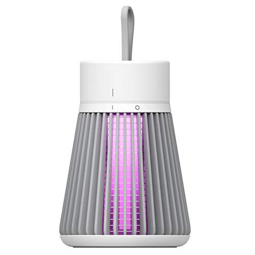 ROTEK Mosquito Killer Lamp, Mute Electronic Bug Zapper UV Insect Fly Trap Lamp Lámpara Portátil USB Recargable Fly Zapper Light para Interior al Aire Libre con Batería Incorporada