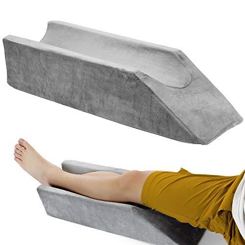 Leg Elevation Pillow Wedge Knee Leg Rest Pillows for Sleeping Post Surgery Knee Support Foam Bed Wedges Legs Bolster Foot Elevation After Surgery Elevating Pillow Positioning Wedge Cushion