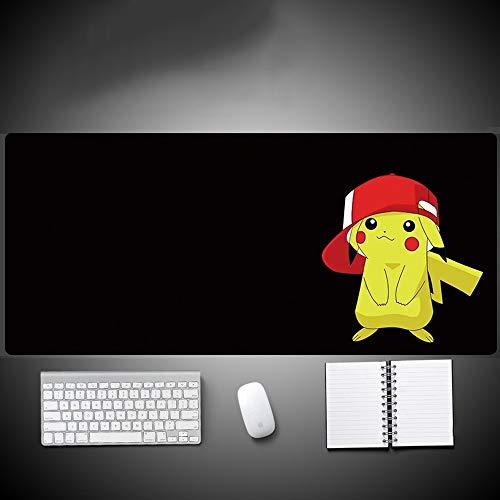 Antecedentes Pokémon Pikachu rojo gorra de béisbol Negro Juego animado alfombrilla de ratón de PC mesa grande tamaño del cojín sensación cómoda deslizante de bloqueo del cojín del teclado del ordenado