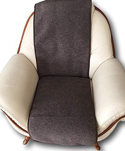 Sesselschoner Nostalgie 48x180 cm Sitzunterlage Bürostuhlsitzunterlage Möbelschoner Sesselauflage Sitzauflage Überwurf Sesselüberwurf Schokobraun 48x180 cm 100% Schurwolle ca 1000g/m 1cm Dick