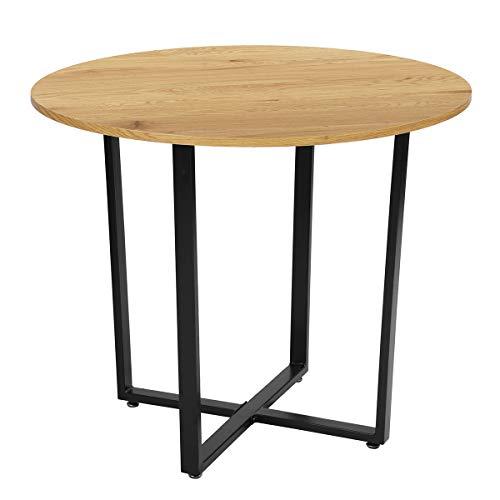 FURNITURE-R Frankrijk Scandinavische ronde eettafel - 2 tot 4 personen - massief houten voeten en beuken - 80 cm
