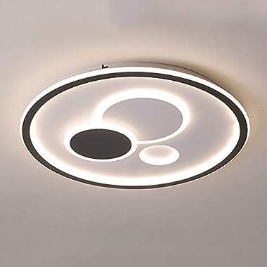 Rond Dimmable LED Plafonnier Moderne chambre salon Décoration Lampe Plafond Avec télécommande cuisine balcon salle garderie É