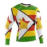 LORDWEY Zimbabwe Flag Maillot de corps de compression à manches longues pour homme, multicolore, XXL