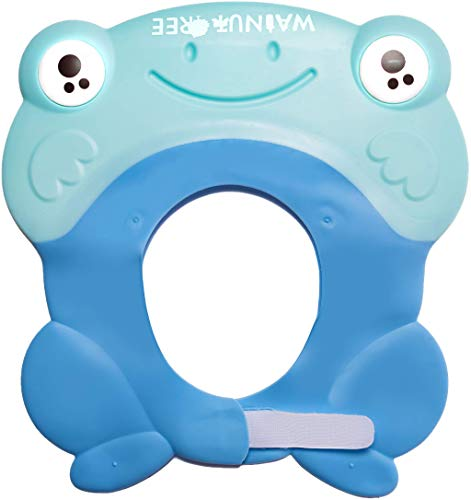 Shower Cap for Babies, Kids, Toddlers | Bath Cap Visor for Washing Hair - USA Pediatricians Recommended Shower Protection [11 Months Old+] (Sky Blue with Strap)