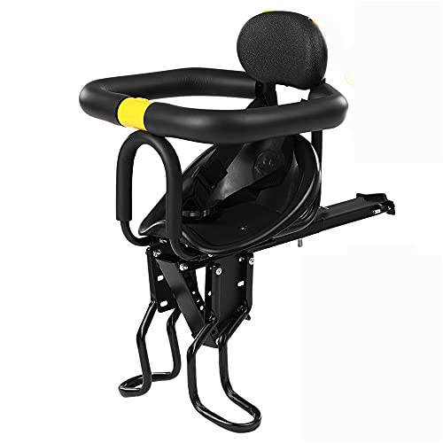 Meteor fire Child Bike Seat, Foldable & Ultralight Baby Kids' Bicycle Carrier Handrail Child Bike Front Mount Seat Compatible with All Adult MTB