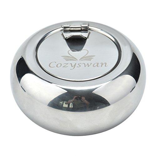 Cozyswan Vento portacenere portacenere dell'acciaio inossidabile Posacenere con coperchio Remover Odore e Rauch diffusore