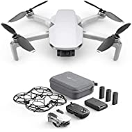 DJI Mavic Mini Combo Drone Leggero e Portatile, Batteria 30 Minuti, Distanza 2 Km, Gimbal 3 Assi, 12 MP, Video HD 2.7K, EU Plug