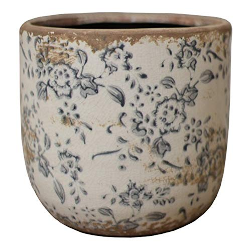 Planter bloempot pot pot 19 cm terracotta geëmailleerd