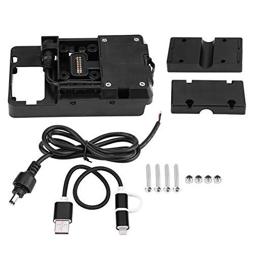 Portacellulare per moto - 1 PC di caricabatterie USB per moto Supporto per telefono cellulare per BMW R1200GS LC & Adventure 2014-2017.