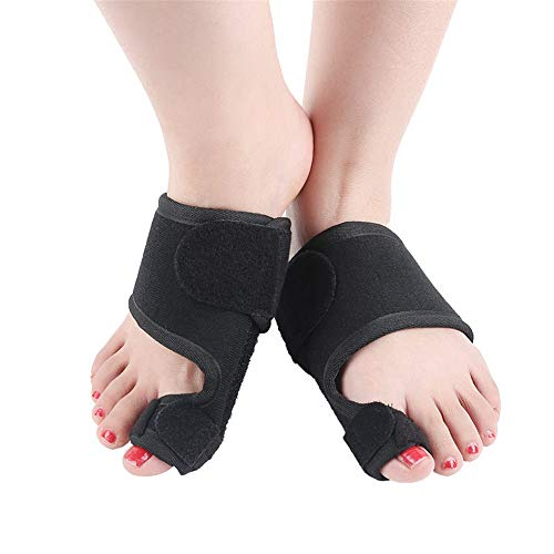 JIAGU Dedos Relajantes Hallux Valgus Envuelve cómodamente for Hombres y Mujeres con fracturas del Dedo del pie Montado en la Parte Delantera Correas con Mangas de protección superposición y flexión