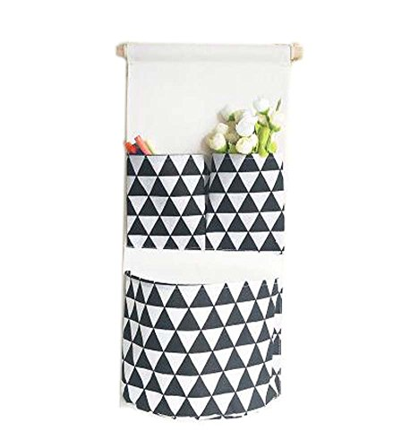 Sac de rangement mural de style simple Sac de rangement créatif, Triangle noir