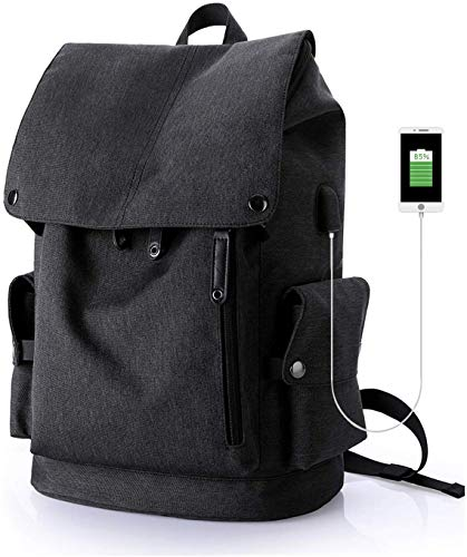 SHRAY Business Backpack Laptop Backpack for 15.6 inch Laptop with USB Port Work Bag Water Repellent Daypack Travel Backpack for Men and WomenBlack