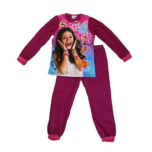 Soy Luna - Conjunto de pijama de forro polar y parte inferior para niña morado 6 años