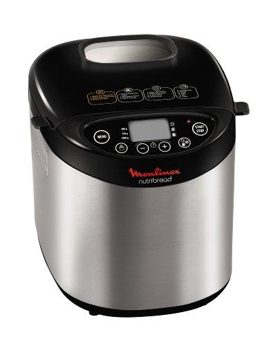 Moulinex OW311E10 Nutribread - Máquina para hacer pan, color negro y metal