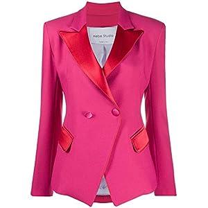 HEBE STUDIO Luxury Fashion Damen LOOJVIVISAFUCHSIA Fuchsia Polyester Blazer | Frühling Sommer 20