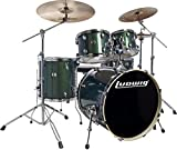 Ludwig Element Evolution LCEE220 5-piece Complete Drum Set with Zildjian Cymbals - Emerald Sparkle