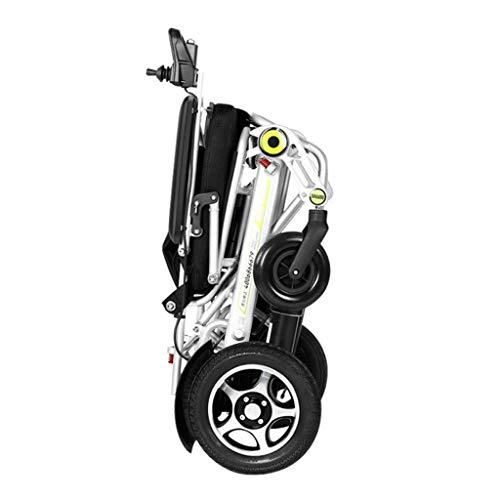 KAD Silla de ruedas eléctrica Ancianos Discapacitados Scooter automático inteligente Aleación de aluminio Silla de ruedas plegable ligera fdh
