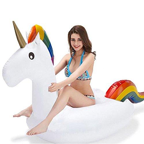 Shop-STORY - Flotador hinchable de playa o piscina en forma de unicornio...