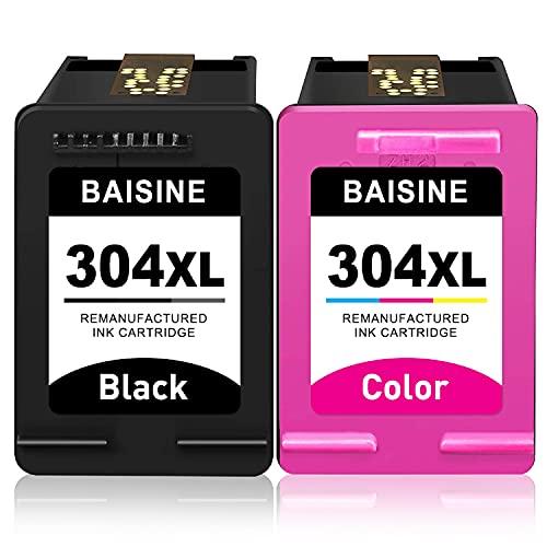 BAISINE - Cartuchos de tinta refabricados para HP 304 304XL para HP Deskjet 2620 2622 2630 2632 2633 2634 3720 3733 3735 3750 3760 3762 3764 Envy 5000 Envy 10 50 20 5030 5032 5050