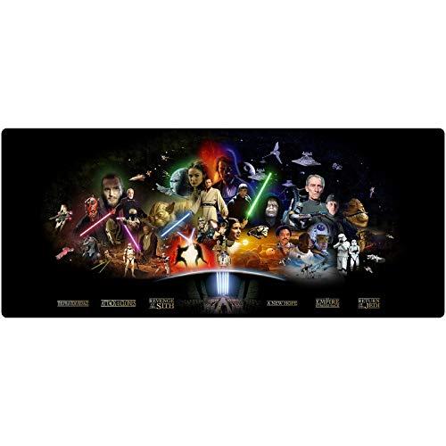 Star Wars Gaming Alfombrilla de ratón Alfombrilla de ratón Grande Estera del Teclado XXL Extendido Mousepad para computadora de Escritorio PC portátil Mouse Pad (Color : M, Size : 900x400x3mm)