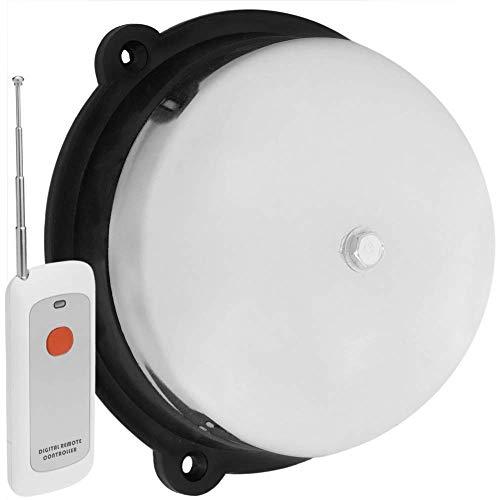 BeMatik - Timbre eléctrico inalámbrico de Campana cromada 150 mm para Alarma...