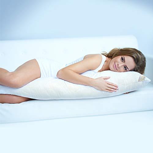 Beautissu XXL Almohada Lateral 200 cm BeauNuit SK - Cojín Lateral Premium Cool Cojín de Lactancia y Maternidad Almohadón para Embarazadas hipoalergénico ergonómico Made in EU