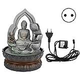 N\A Adornos de la Fuente de Agua meditando la Estatua de Buda Decoración del...