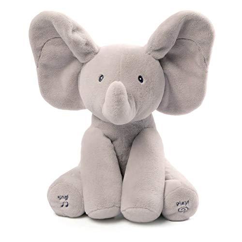 Gund- Elmer Elephant Jouets d'Eveil-Peluche Animée Qui Bouge Ses Oreilles, 4053934