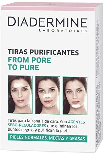 Diadermine - Tiras Purificantes pieles normales/mixtas- 2 uds de 6 tiras