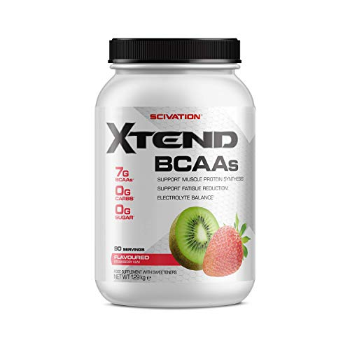 XTEND Original BCAA Powder Strawberry Kiwi Splash | Branched Chain Amino Acids Supplement | 7g BCAAs + Muscle Protein Synthesis Electrolytes for Recovery & Hydration | 90 Servings