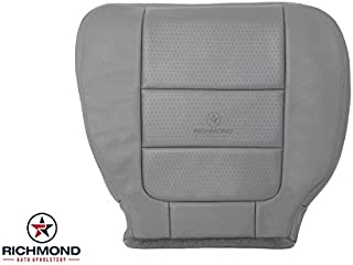Richmond Auto Upholstery - Driver Side Bottom Replacement Leather Seat Cover, Gray (Compatible with 2001 2002 2003 Ford F-350 F350 Lariat 7.3 Power Stroke Ext-Cab)