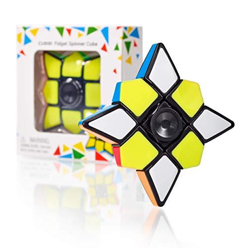 CUBIDI® Star - Brainteaser für Kinder und Erwachsene - 3x3x1 Cube und Spinner in einem