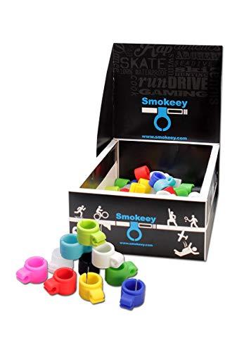 SMOKEEY ® Gaming Raucher Ring I Hands Free Smoking - freihändig Rauchen beim Zocken - nikotinfreie Finger für Zigaretten I Gaming Gadget, No1 Zocker Gadget, Raucher Zubehör (Blau)