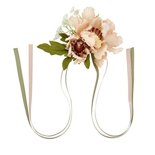 Rosenice Blumengesteck für Handgelenk, für Bankett / Hochzeit, Blume für Braut / Brautjungfer - Champagnerfarben