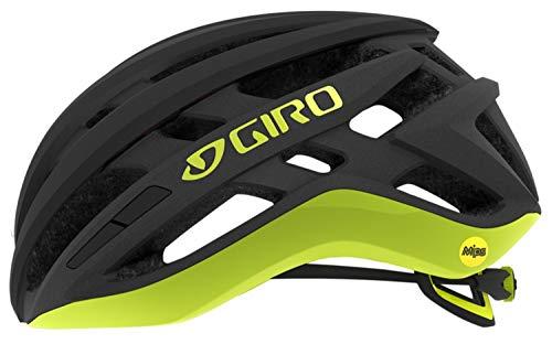 Giro Unisex– Adult's Agilis Mips Road Bike Helmet, Matte Black/Citron, S | 51-55cm