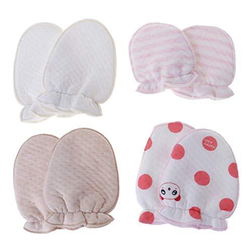 Haven Shop - Manoplas antiarañazos para bebé, guantes de protección antiarañazos, suave dibujos animados para recién nacido, regalo de cuidado