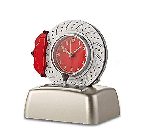 DZXYW Wecker Wecker Neuheit Bremsscheibe Formtisch Uhr Motor Sound Drehalarm Reifenform Alarm