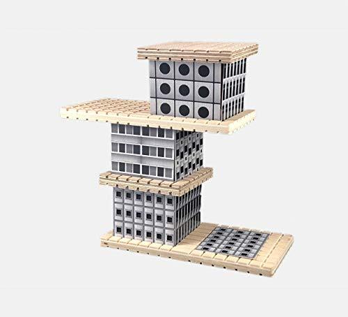 Beamalevich House Brutalism Duo - Juego de construcción con Madera, Metal, y cartón - Edición Arquitectura Brutalista