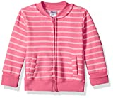 Hanes unisex baby Ultimate Zippin Fleece Jacket Sweatshirt, Pink Stripes Print, 12-18 Months US