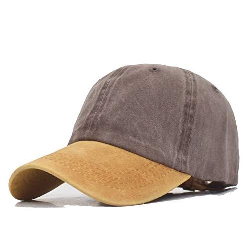 GMZXX Honkbalmuts voor heren van merk Mode Bone Dad hoed heren muts vintage zwart koffie geel