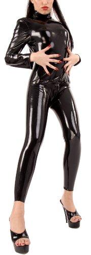 Anita Berg AB4086 Latex Overall Rubber Catsuit offen Zipper im Schritt L schwarz