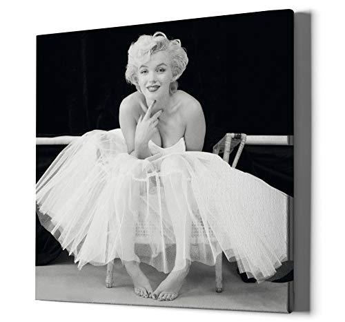 1art1 Marilyn Monroe - Ballerina Bilder Leinwand-Bild Auf Keilrahmen | XXL-Wandbild Poster Kunstdruck Als Leinwandbild 80 x 80 cm