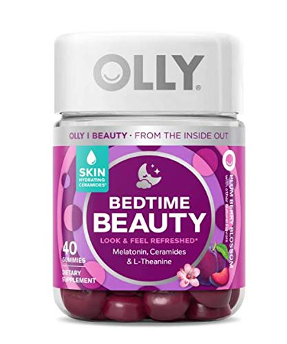 Olly Bedtime Beauty Sleep Gummy! 40 Gummies Plum Berry Flavor! Formulated with Ceramides, Melatonin and L-Theanine!! Supports Sleep and Relaxation! Look and Feel Refreshed! Choose Your Pack! (1 Pack)