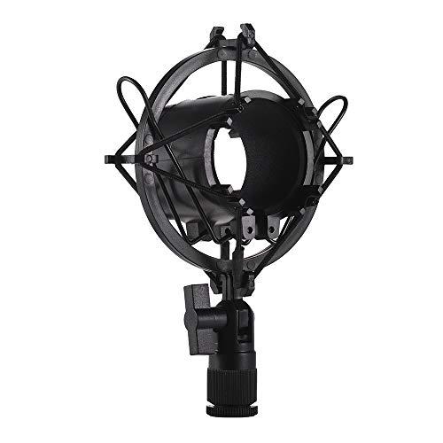 Muslady Condenser Microfoon Mic Shock Mount Houder Beugel Kunststof Anti-vibratie voor On-line Broadcasting Studio Music Recording Zwart