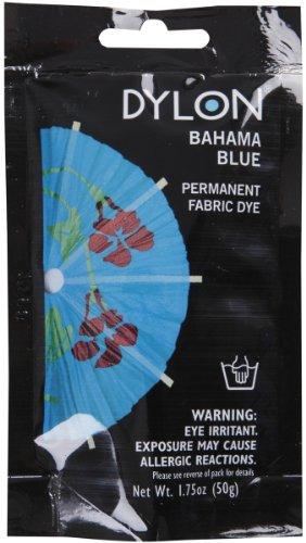 Dylon 87079 Permanent Fabric Dye, Bahama Blue, 1.75-Ounce