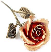 Rosa Eterna Ferro Battuto - Regalo Esclusivo per Lei per Anniversario di Matrimonio, San Valentino, Festa Della Mamma,...