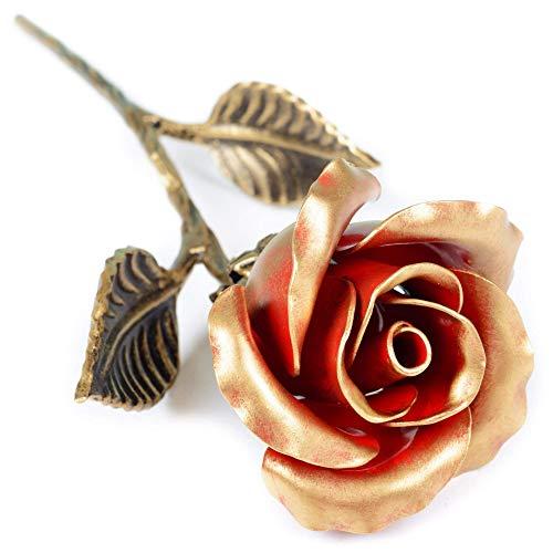Rosa Eterna Hierro Forjado - Regalo exclusivo para ella para el Aniver