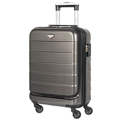 Flight Knight Sac De Cabine pour Ordinateur Portable avec Serrure TSA Valise Cabine Compatible avec Air France, Hop! easyJet, Ryanair 55x35x20cm