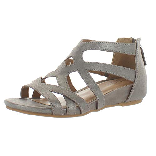 Comfortiva Womens Mayra Suede Strappy Sandals Metallic 8 Medium (B,M)