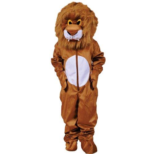 Dress Up America Effrayant Peluche Lion Costume de tête poilue